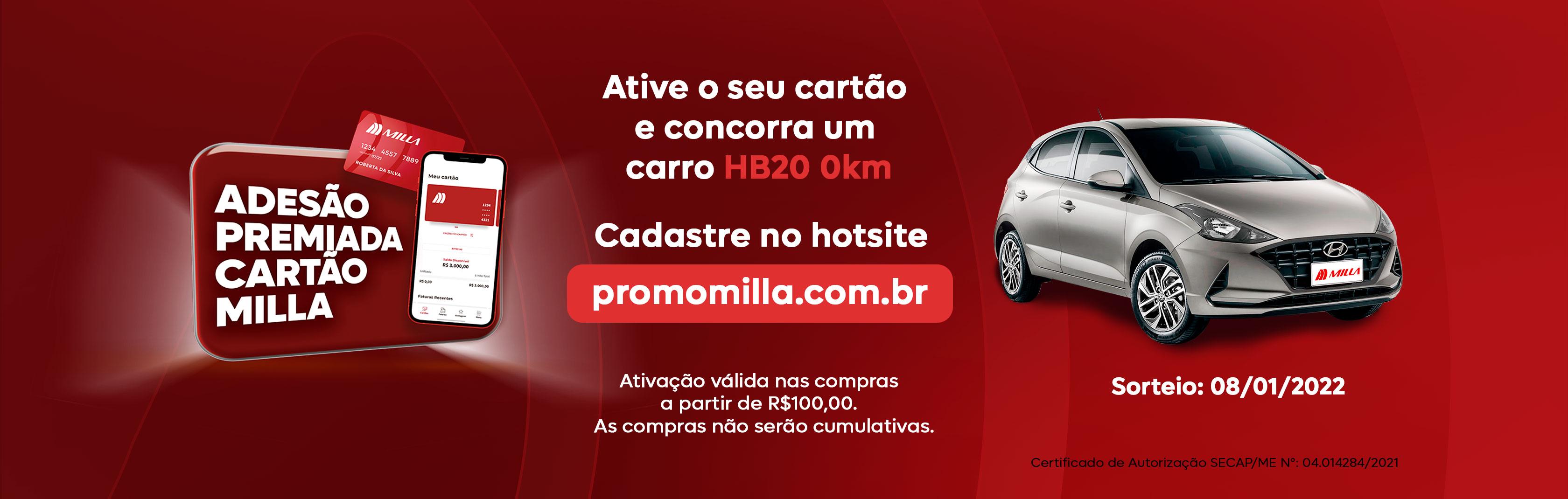 Banner - Cartão Milla carro